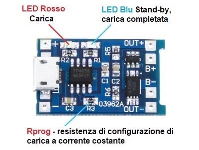 Tp4056 1a LIPO BATTERIA ACCUMULATORE DI CARICA CARICABATTERIE MODULO MINI USB B Arduino Raspberry Pi