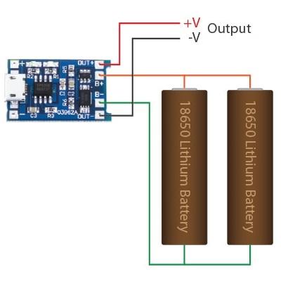 Schema Elettrico Per Carica Batterie Al Litio : Caricabatterie li ion tp4056 con circuito di protezione