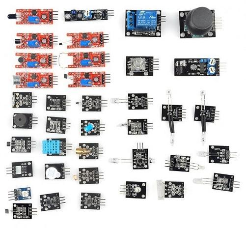 Kit di sensori e moduli 37in1 per Arduino e Raspberry Pi