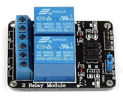 Modulo Relè 2 Canali Dc 5v Per Arduino E Raspberry Pi