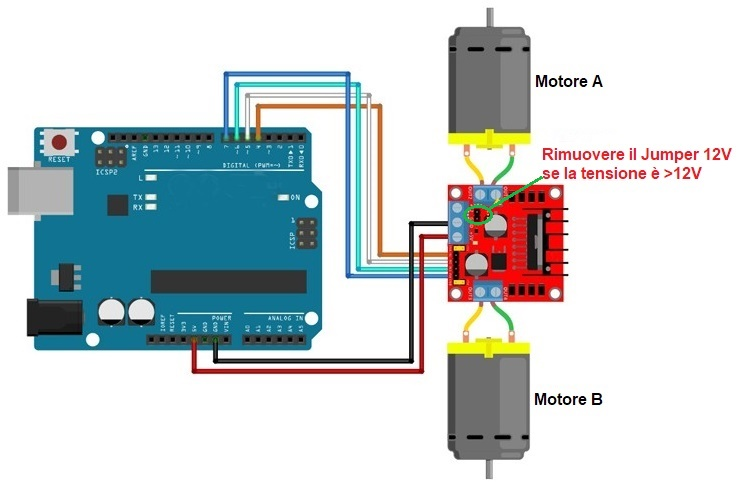 how to use a motor with arduino