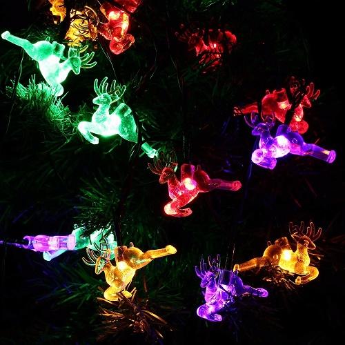 Decorazione natalizia da esterno ad energia solare renne - Renna natalizia luminosa per giardino ...
