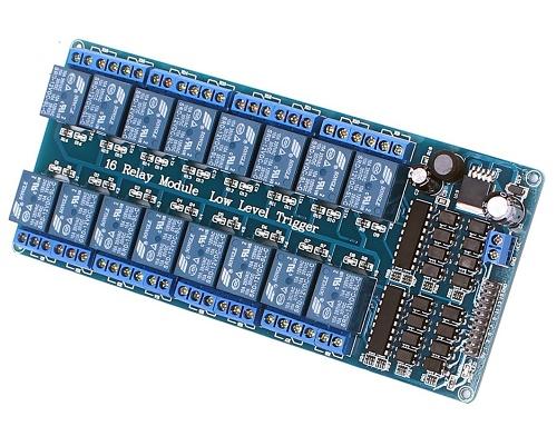 Schemi Elettrici Rele : Modulo relè 16 canali dc 12v per arduino e raspberry pi