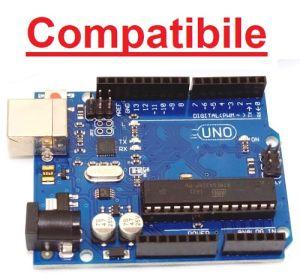 Scheda compatibile UNO R3  con microcontrollore ATmega328 + cavo USB-A/USB-B