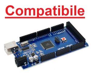 Scheda compatibile Mega 2560 R3 con microcontrollore ATmega2560 + cavo USB-A/USB-B