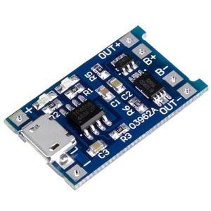Caricabatterie Li-Ion TP4056 con circuito di protezione
