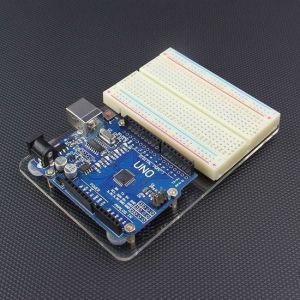 Supporto per Arduino UNO e Breadboard