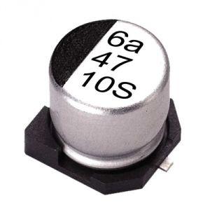 Condensatore elettrolitico 10uF 50V SMD - 50 pezzi