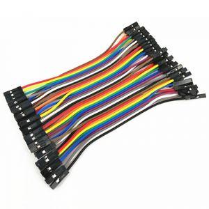 Set di Cavetti 40 Poli F/F 10cm (compatibile Arduino)