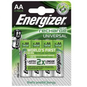 Batterie Stilo AA R6 NiMh Ricaricabili 1.2V 1300mAh Energizer (Blister da 4 pz)
