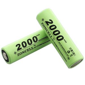 Batteria Stilo AA R6 NiMh Ricaricabile 1.2V 2000mAh