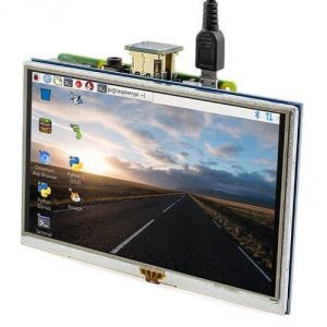 "Display HDMI 5"" con touchscreen per Raspberry Pi XPT2046"