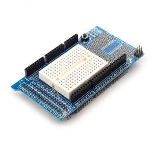 ProtoShield per Arduino MEGA2560 con breadboard