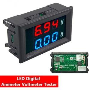 Voltmetro Amperometro 100V 10A LED bicolore