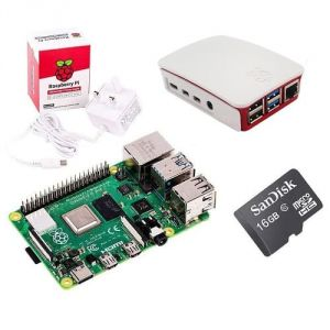 Raspberry Pi 4 Model B 4GB Basic Pack con scheda Raspberry Pi 4