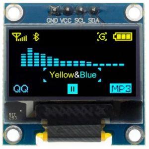 """Display OLED 128x64 0.96"""" 4pin I2C Blu Giallo"""
