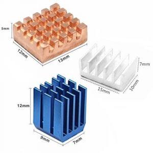 Dissipatori di calore in alluminio per Raspberry Pi 4B