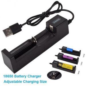 Caricabatterie LiPo USB 3.7V per 18650 16340 14500 10400 26650