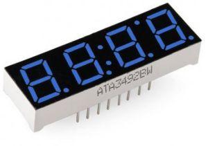 Display 7 segmenti 4 cifre - colore BLU