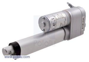 Attuatore Lineare IP63 102mm con Feedback - motoriduttore 5:1 12V 4.3cm/s 15Kg