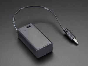 Custodia per batteria 9V con interruttore e spinotto alimentazione (comp. Arduino)