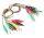 Cavi multicolore per test con morsetti a coccodrillo (conf. 10 cavi)