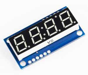 Display LED seriale 4-Digit - colore cifre VERDE